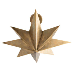 8-Point Star Antique Brass Ceiling Pendant - Lighting - Global Home