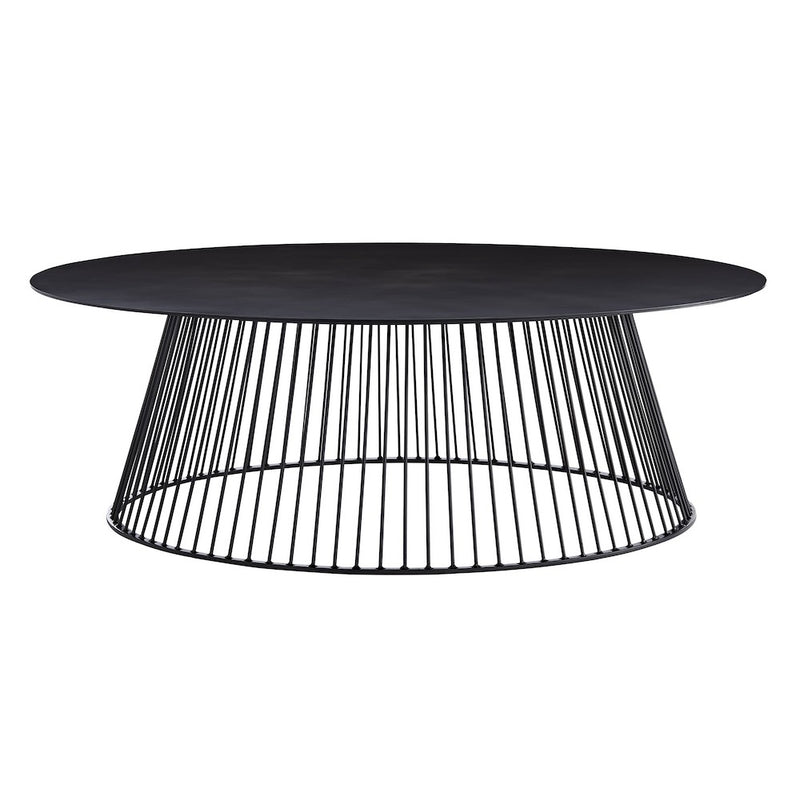 Round Spoked Bronze Coffee Table - Tables - Global Home