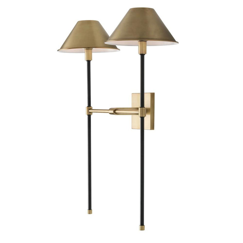 Double Brass Sconce - Lighting - Global Home