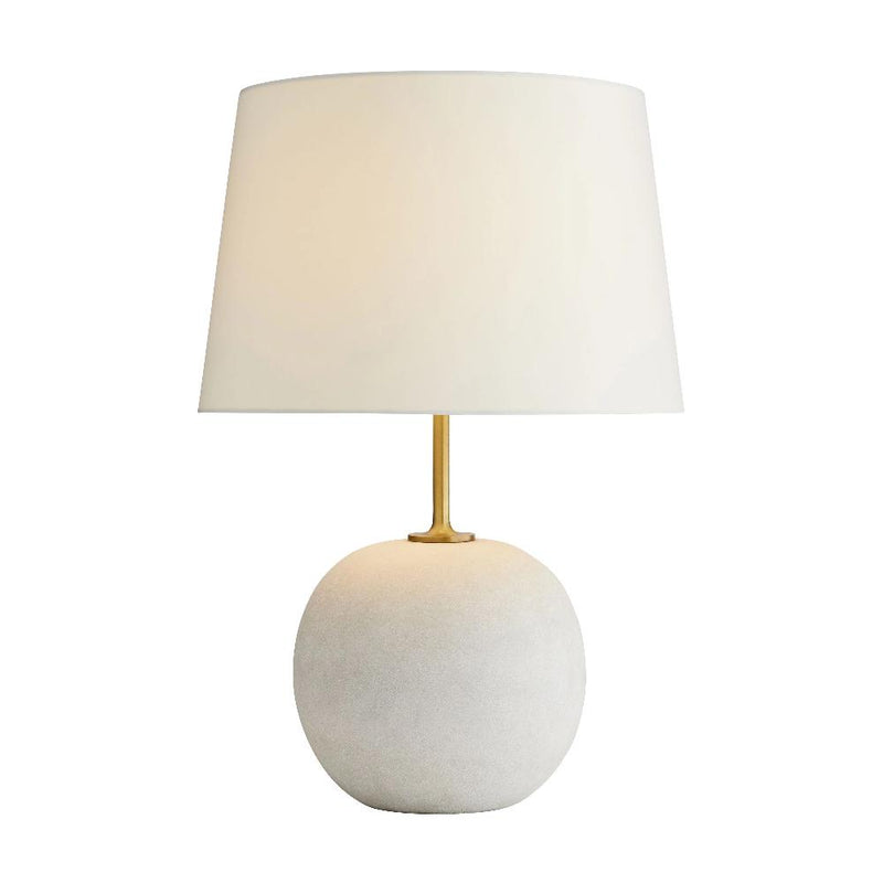 Ivory and Antique Brass Lamp - Lamp - Global Home