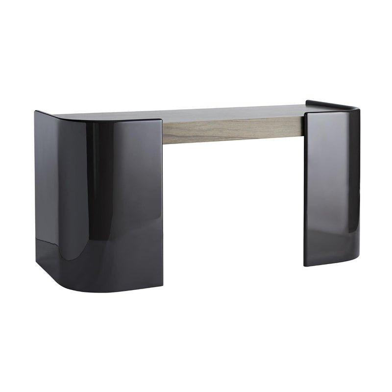 Smoke Black and Grey Curved Desk- Global Home-Parnell