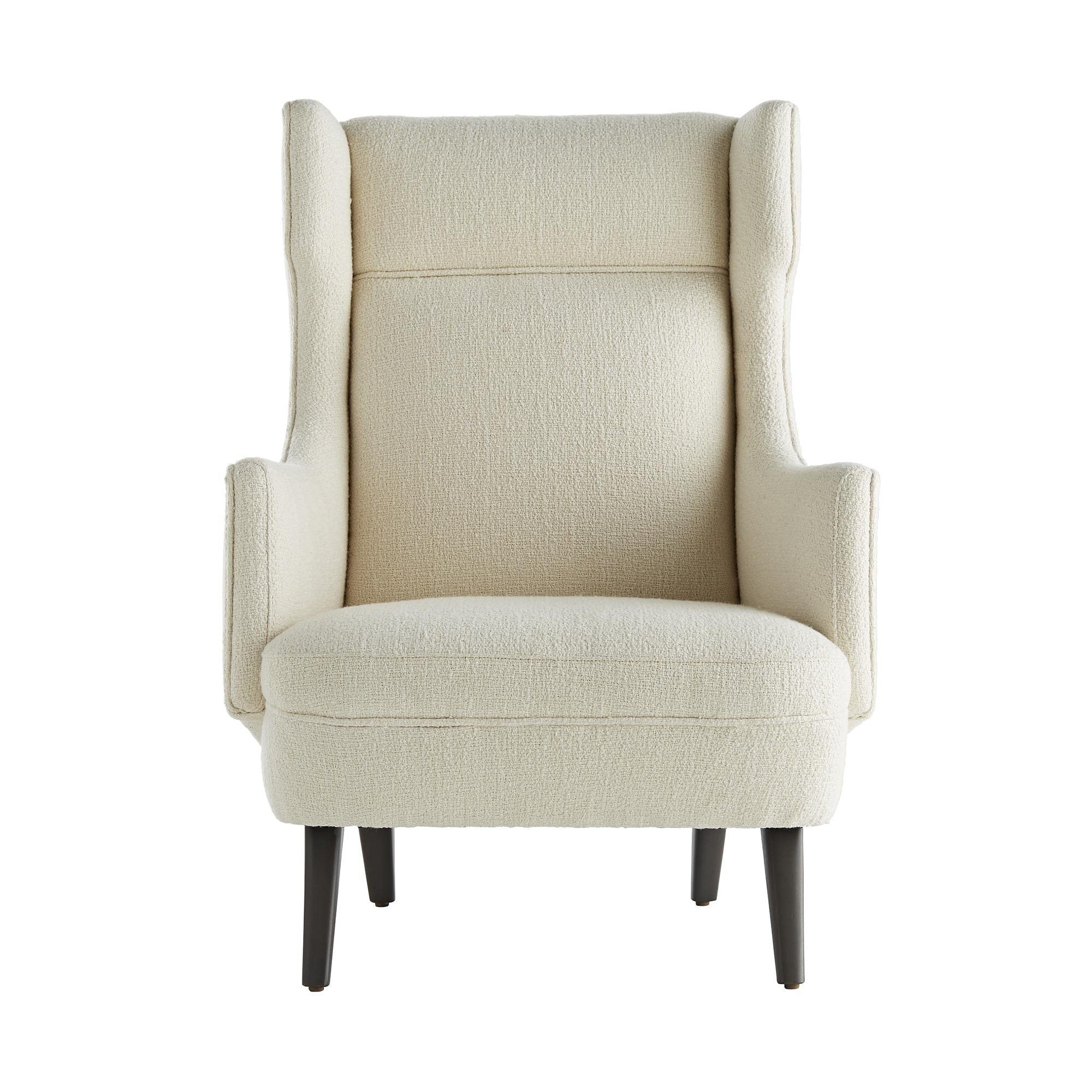 Modern Wing Chair in Boucle Global Home