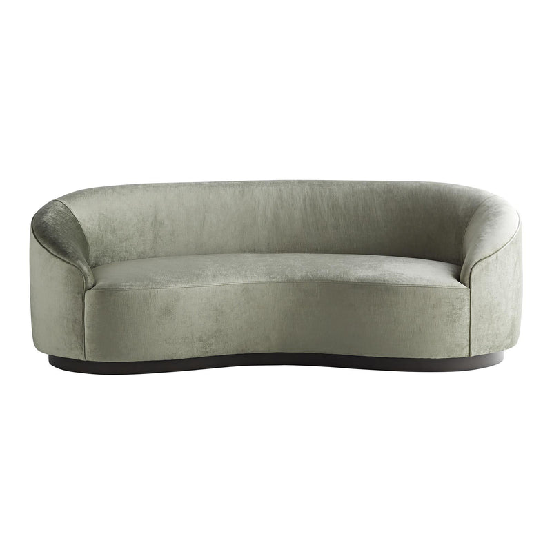 Petite Curved Sofa in Morning Dew Velvet - Seating - Global Home