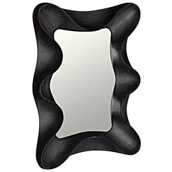 Black Moody Wave Mirror - Mirrors - Global Home