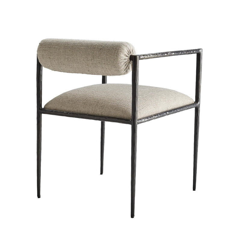 Hand-Forged Pewter Texture Dining Chair
