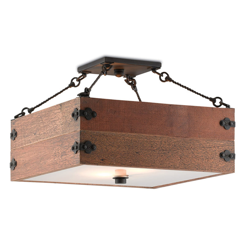 Reclaimed Wood Semi-Flush - Lighting - Global Home