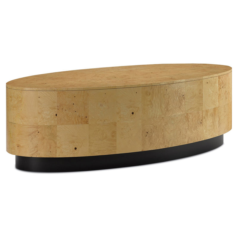 Burled Wood Paneled Cocktail Table - Coffee Table - Global Home