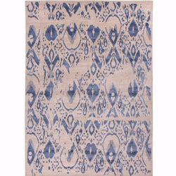 Antiqued Tsunami Wool/Silk Rug - Navy - Rugs - Global Home