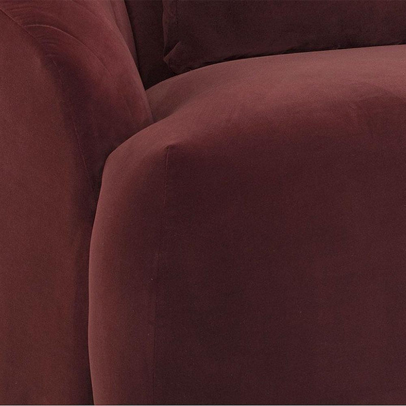 Clamshell Sofa in Merlot Microfiber - Seating - Global Home