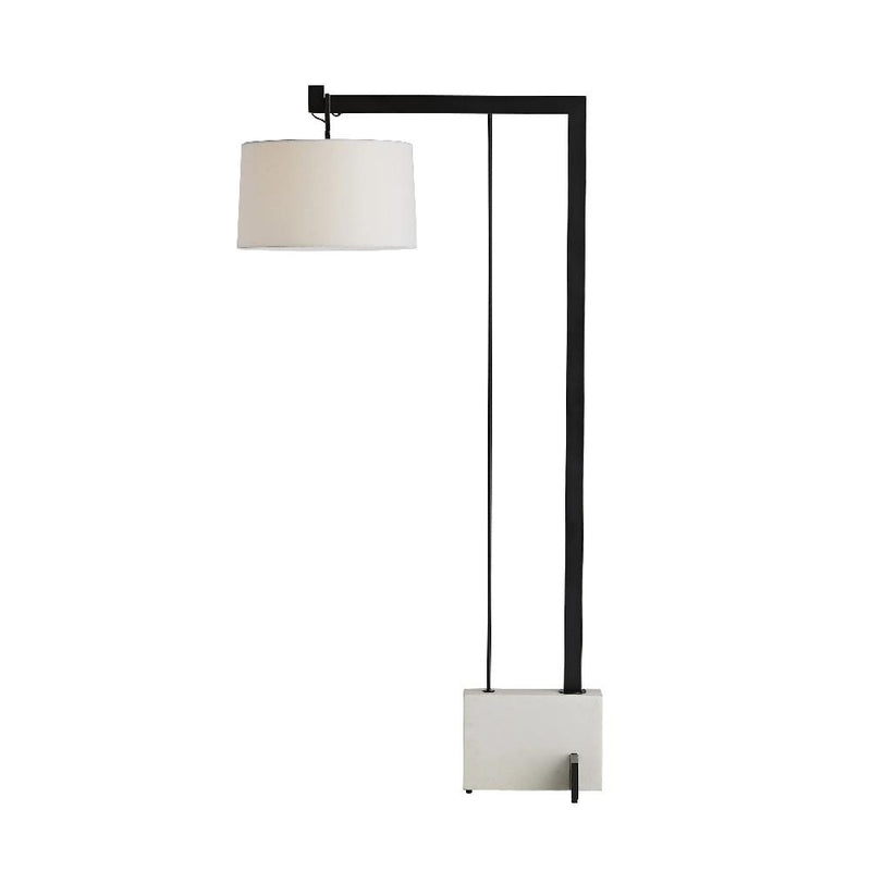 Faux Marble and Steel Floor Lamp - Lamp - Global Home