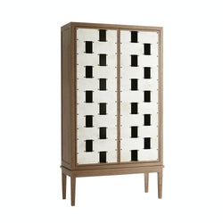 Vellum Panelled Cabinet - Console - Global Home