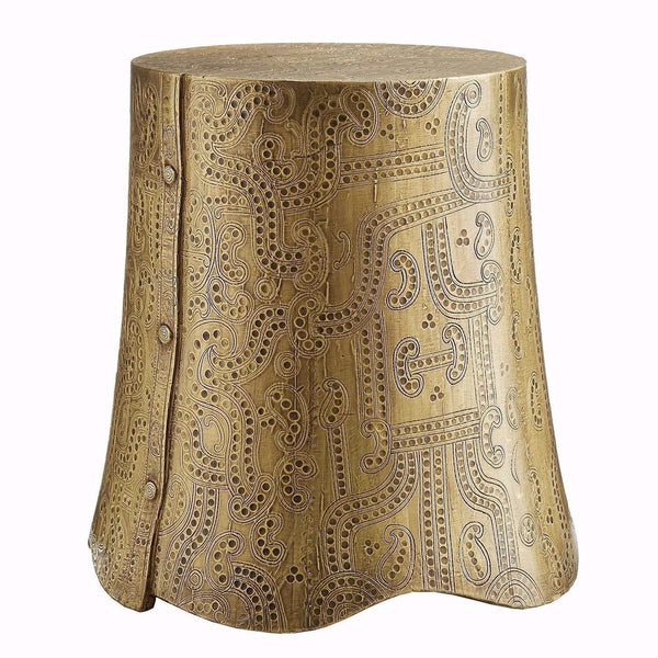 Emperor Brass Side Table - Side Table - Global Home