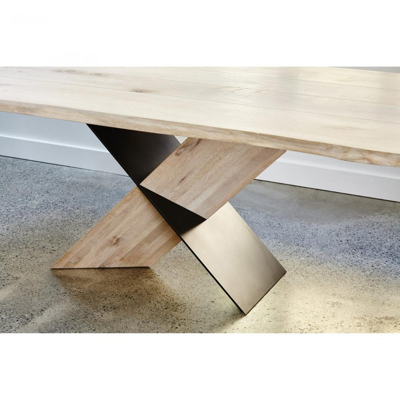 """X"" Oak Dining Table - Dining Table - Global Home"
