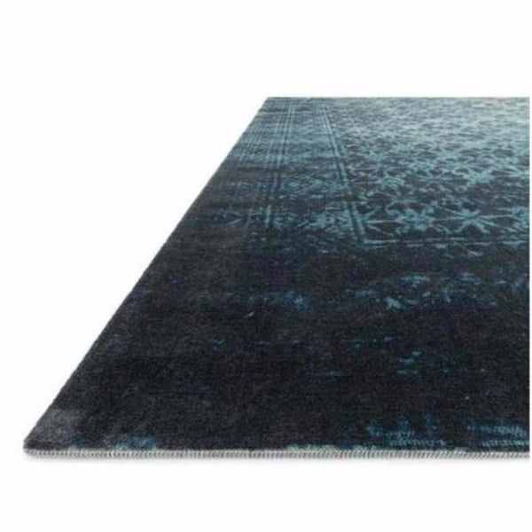 Indigo Blue Faded Oriental Rug - Rugs - Global Home