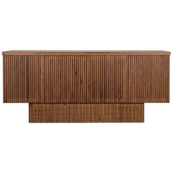 Ribbed Walnut Sideboard - Storage - Global Home