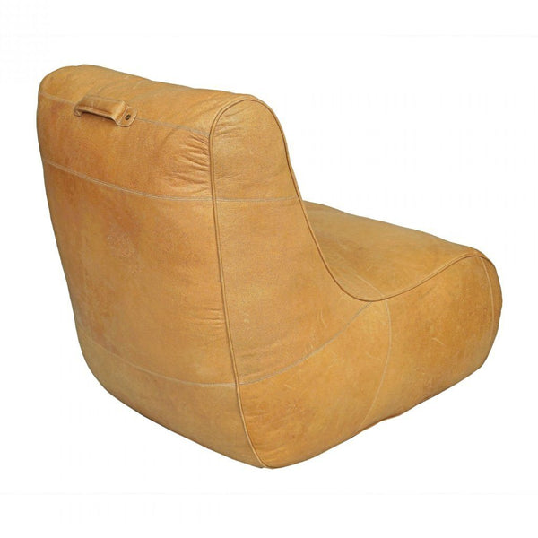 Casual Teardrop Leather Tote Chair - Seating - Global Home