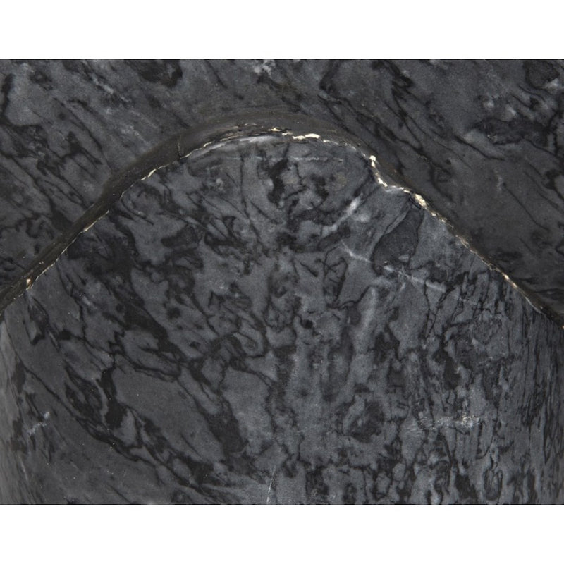 Black Stone Side Table - Side Table - Global Home