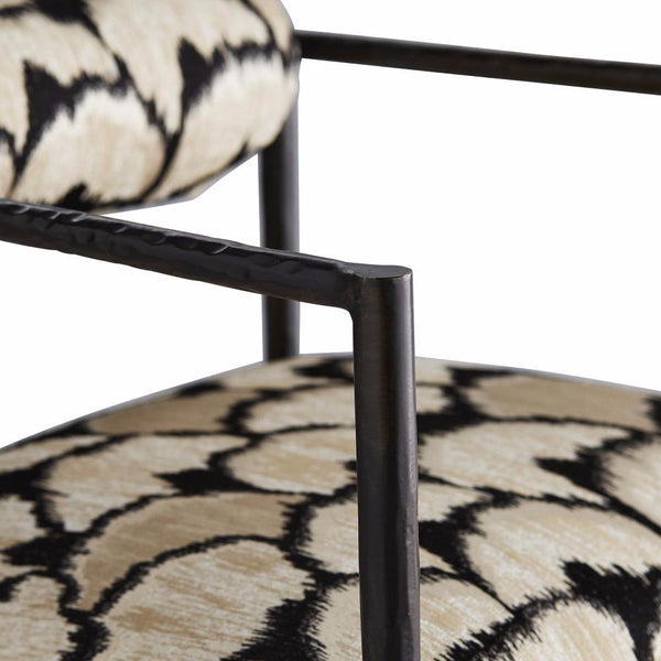 Hand-Forged Graphic Dining Chair - Dining Chair - Global Home