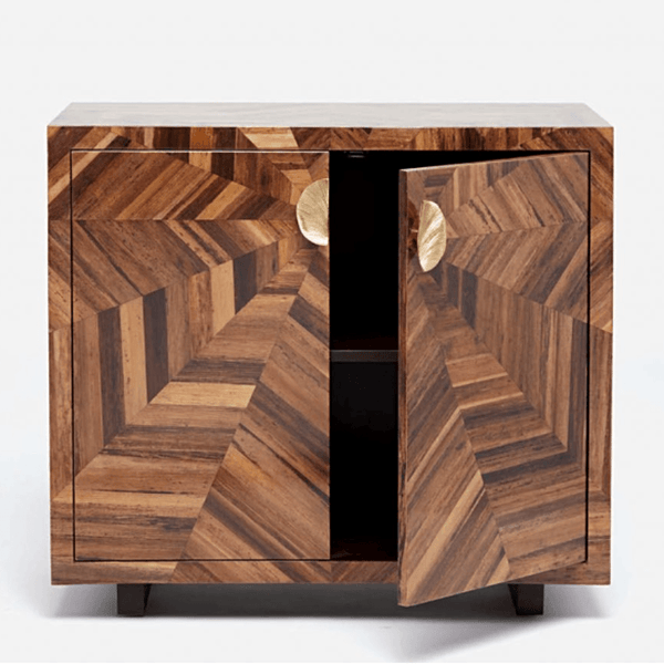 Hand-Laid Banana Bark Cabinet - Storage - Global Home