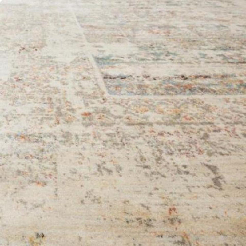 Antique-Look Neutral Oriental Poly Rug - Rugs - Global Home