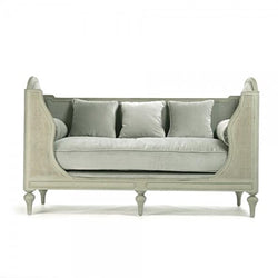 Cane and Velvet Celadon Daybed - Bed - Global Home