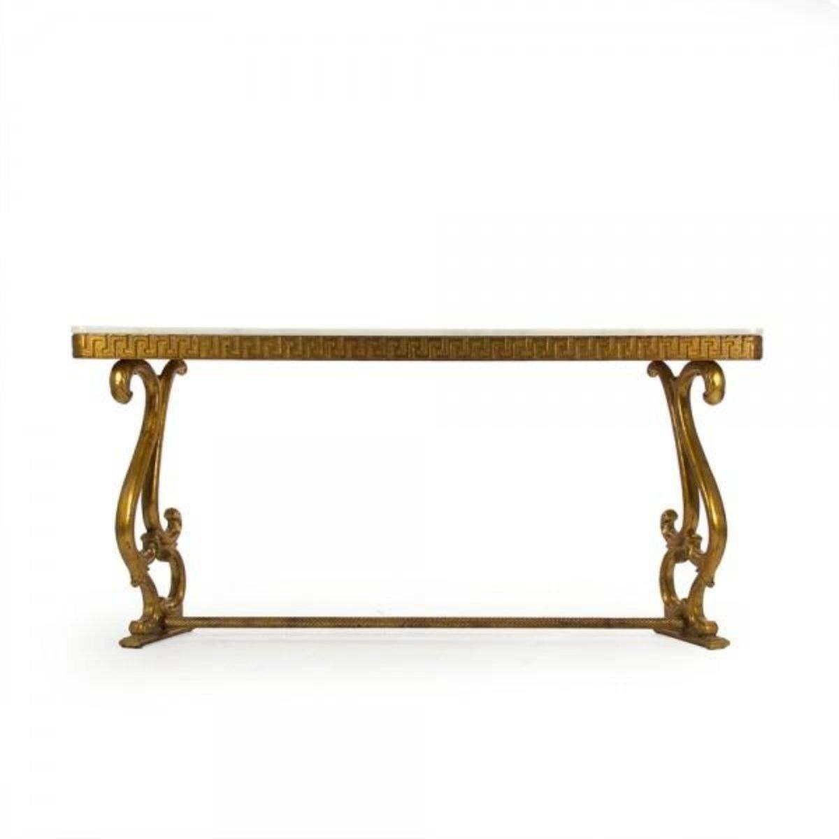 Gilded Baroque Console With Marble Top   Console   Global Home ...