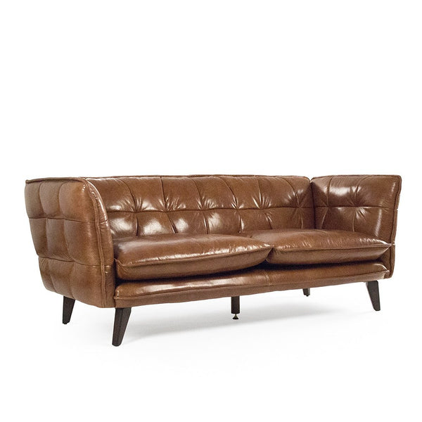 Lilet Leather Sofa - Sofa - Global Home