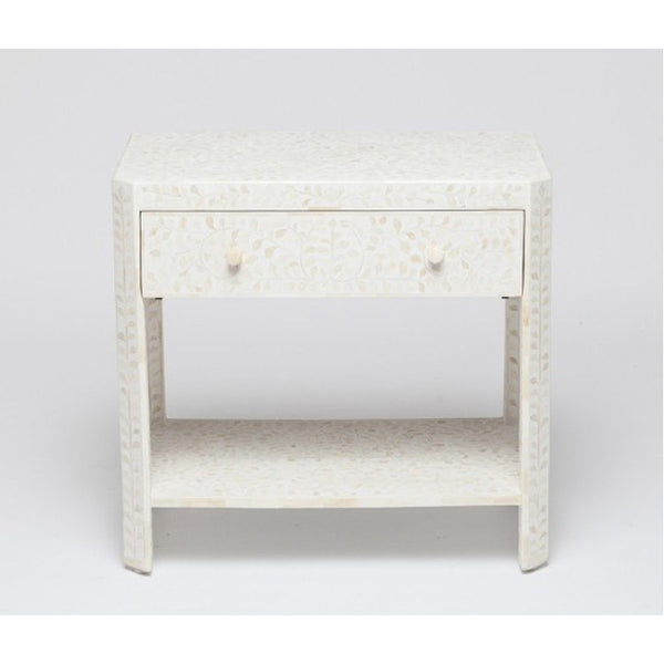 Luxor Nightstand-White - Tables - Global Home