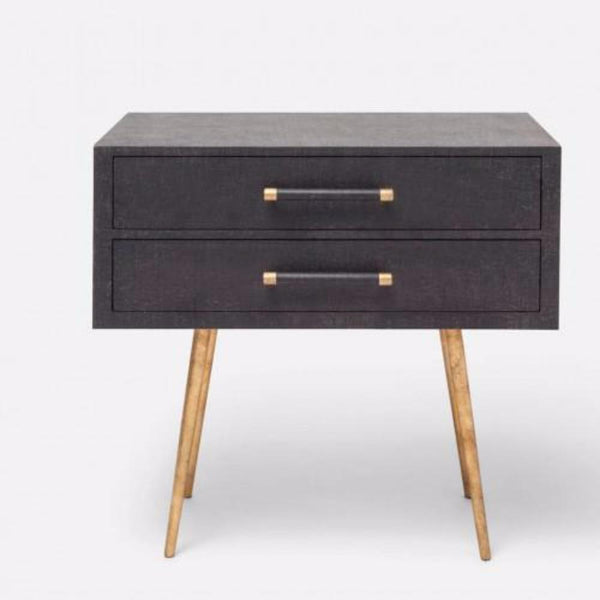Linen Texture Double Nightstand - 3 Colors - Side Table - Global Home