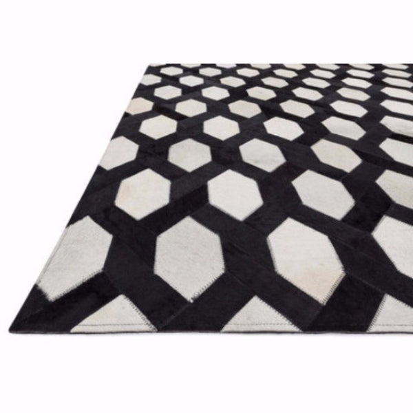 Black Honeycomb Rug - Rugs - Global Home