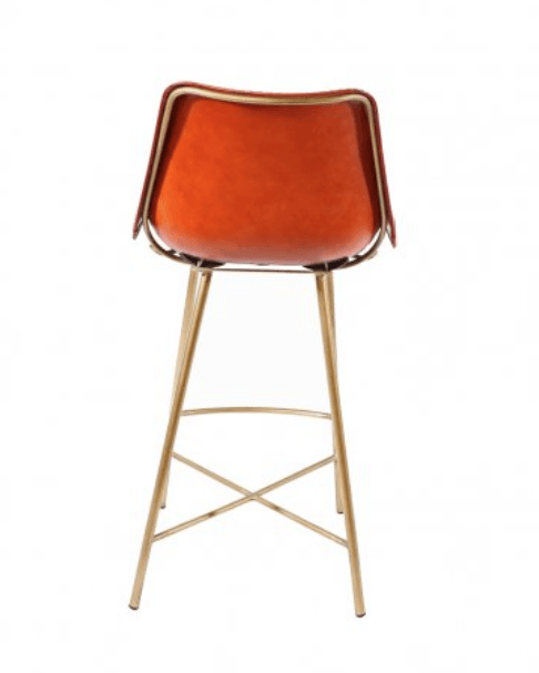 ... PAIR of Stitched Leather Bar Stools - Saddle Leather-Global Home ...  sc 1 st  Global Home & PAIR of Stitched Leather Bar Stool at Global Home islam-shia.org