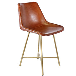 Stitched Leather Dining Chairs- Set of Four - Seating - Global Home