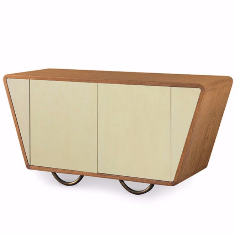 Denmark 2 Door Side Cabinet - 2 Finishes - Storage - Global Home