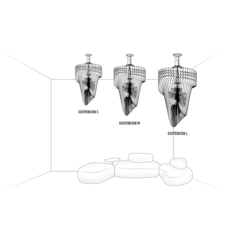 Zaha Chandelier-Transparent - Lighting - Global Home