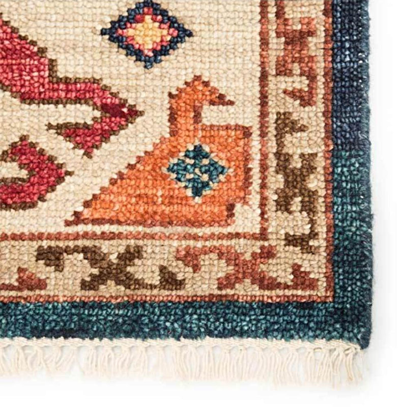 Folklore Hand-Knotted Wool Rug - 3 Sizes - Rugs - Global Home