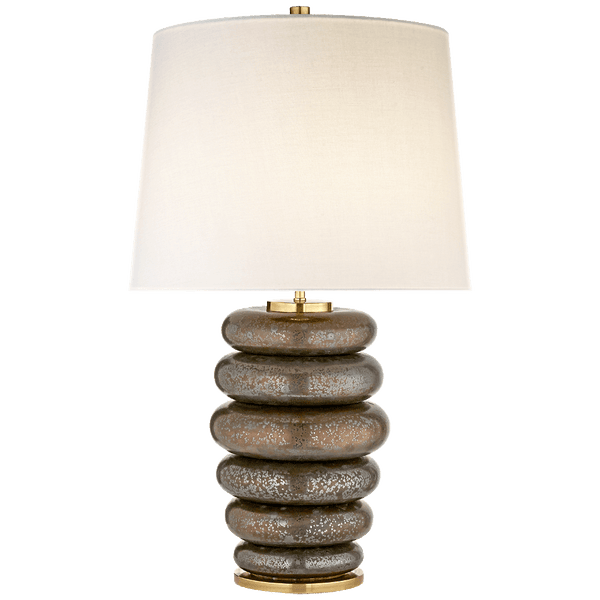 Stacked Ring Table Lamp - Dappled Bronze - Lighting - Global Home