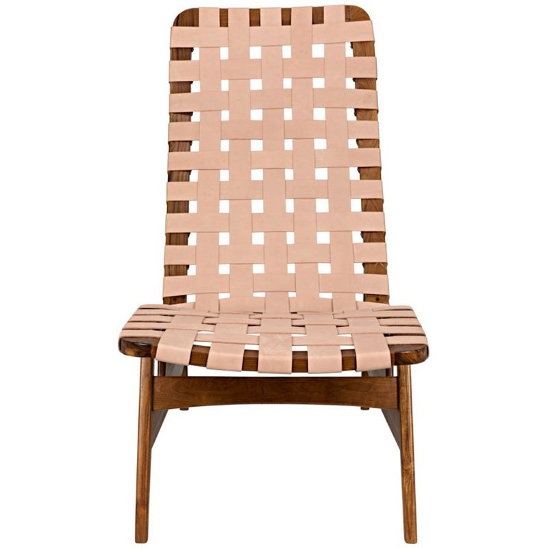Teak and Leather Relax Chair - Seating - Global Home