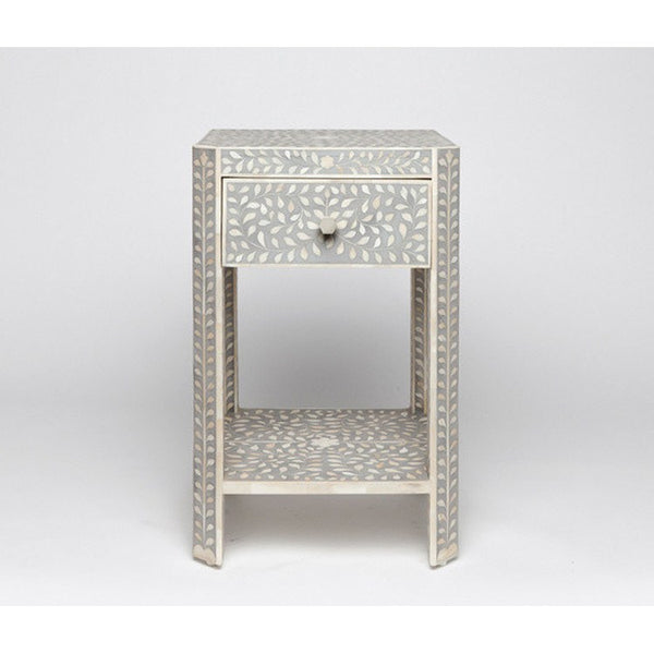 Luxor Nightstand-Grey - Tables - Global Home