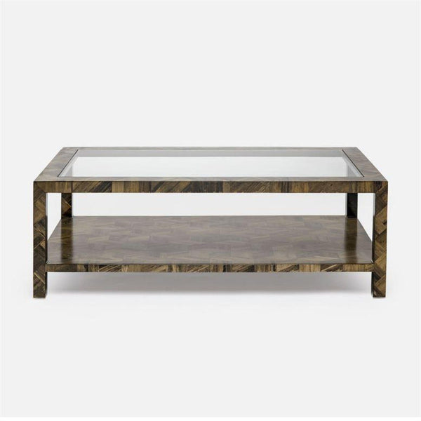 Uptown Parquet Two-Tiered Coffee Table - 2 Colors - Coffee Table - Global Home
