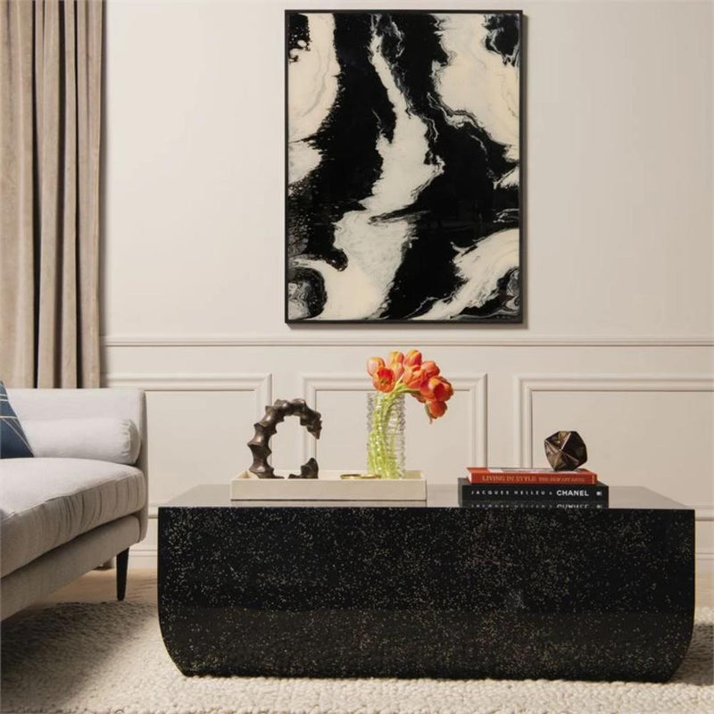Glossy Black Coffee Table - Coffee Table - Global Home