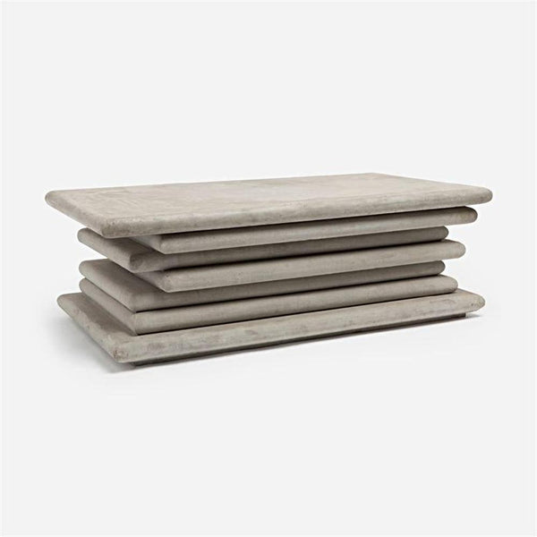 Stacked Concrete Coffee Table - Coffee Table - Global Home