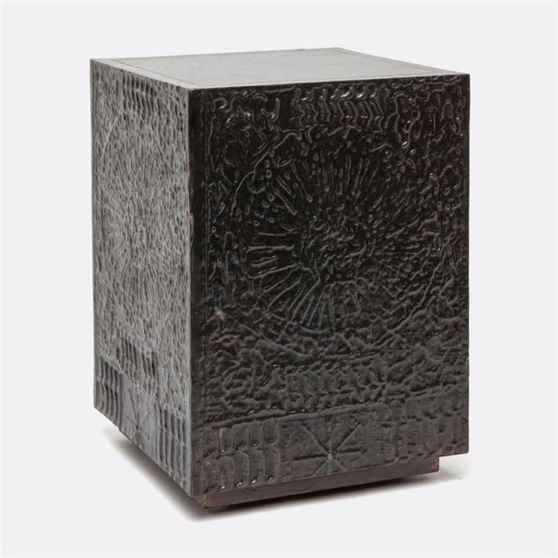 Zinc Cubist Stool - Side Table - Global Home