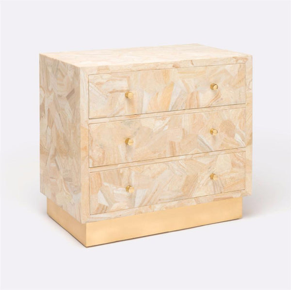 Crystal Stone and Brass Accent Nightstands - Side Table - Global Home