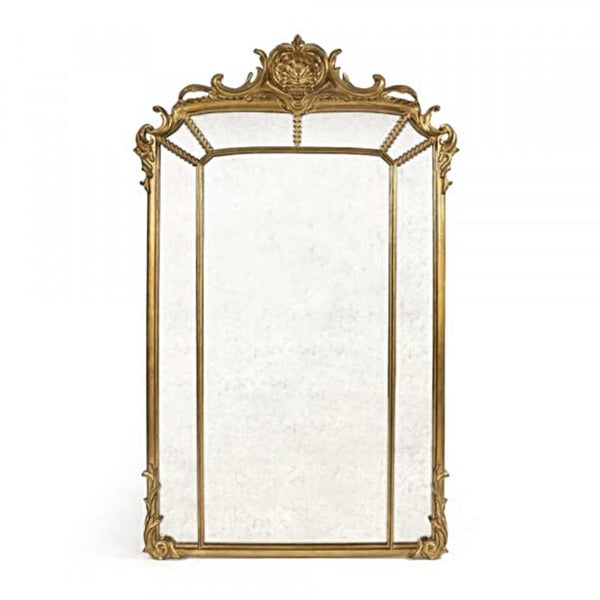 Oversized Ornate and Gilded Antiqued Mirror - Mirrors - Global Home