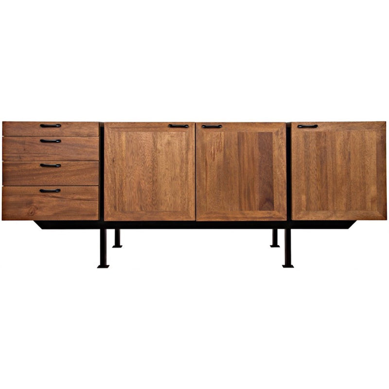 Walnut and Metal Sideboard - Storage - Global Home