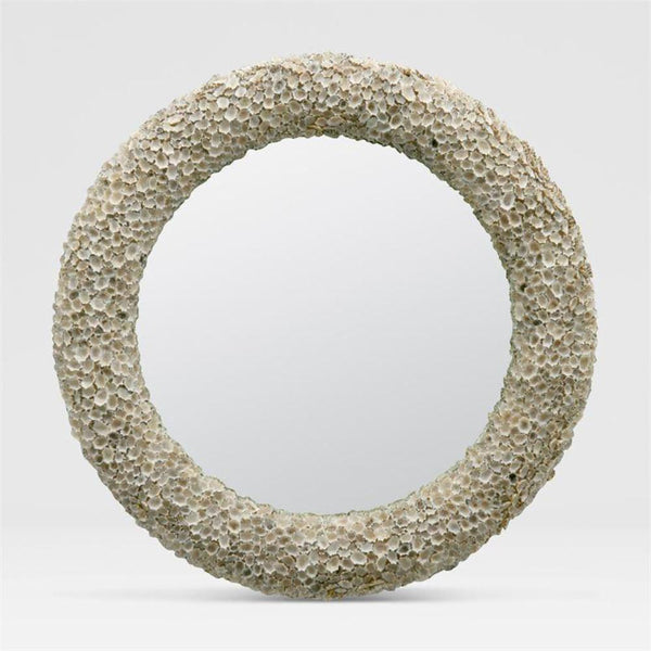 Star Shell Mirror- BEIGE