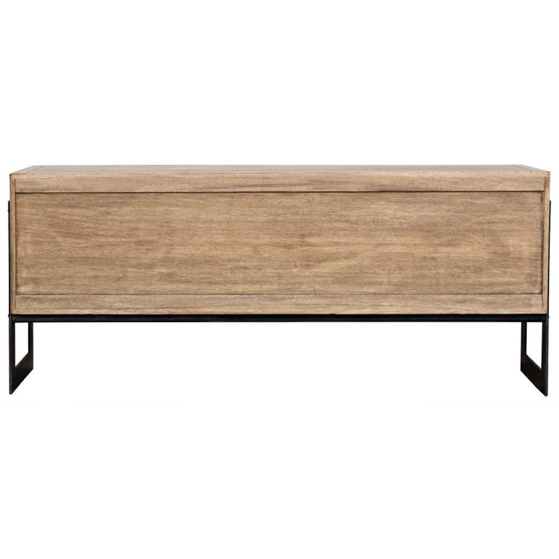 Washed Walnut with Rattan Sideboard - Storage - Global Home