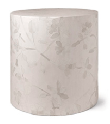 Lola Floral Inlay Stool - Seating - Global Home