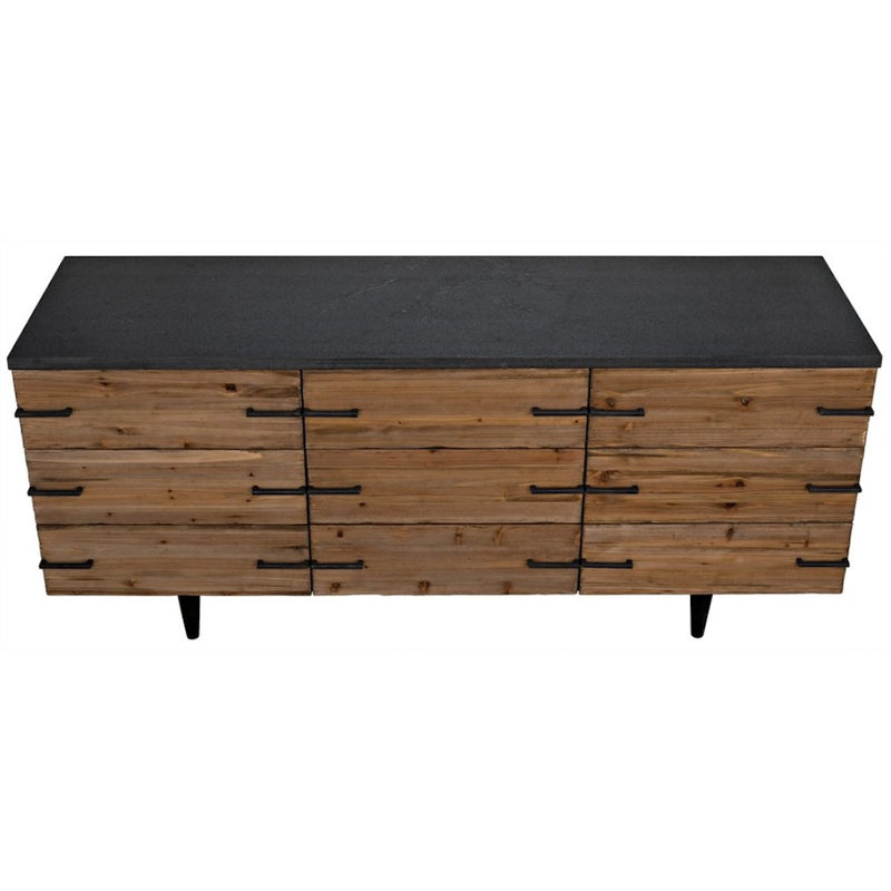 Old Elm and Stone Sideboard - Storage - Global Home