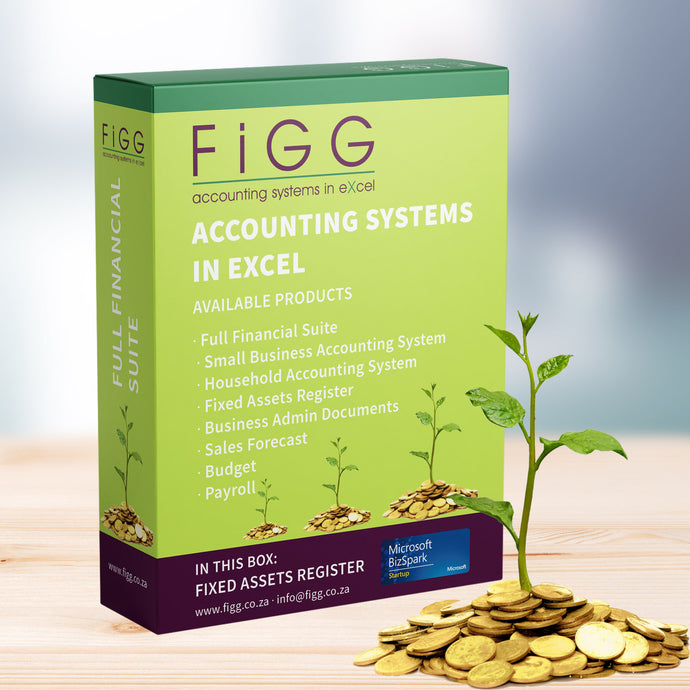 Figg, Excel Accounting Templates, Accounting Systems in Excel, Fixed Assets Register Excel Template